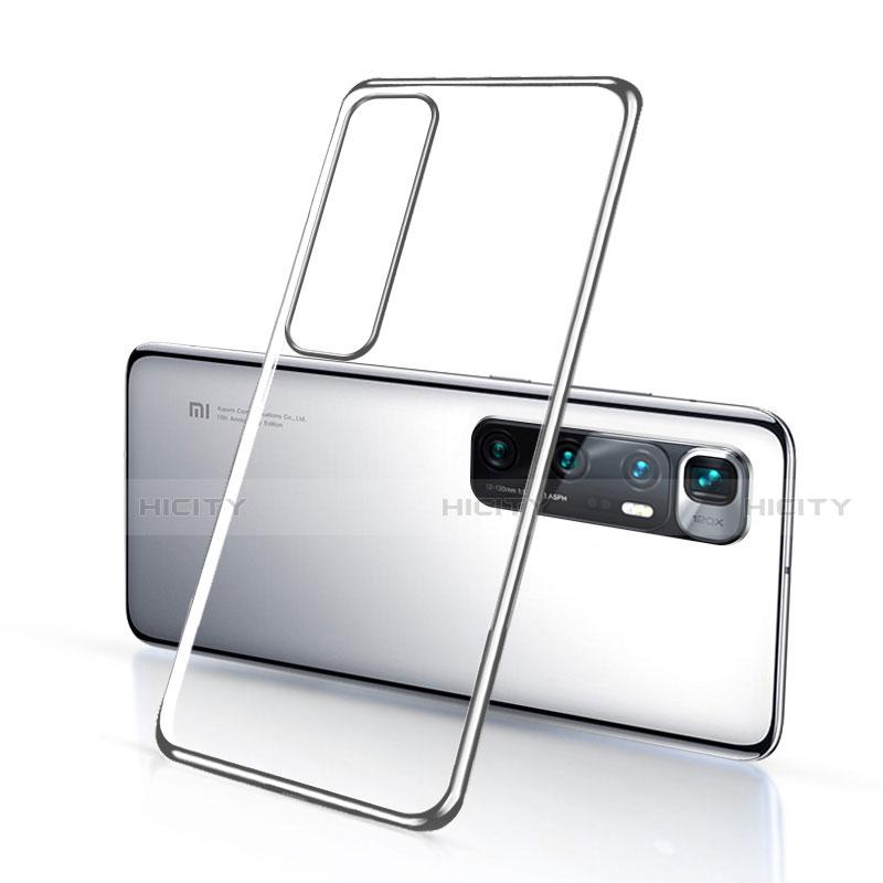 Silikon Schutzhülle Ultra Dünn Flexible Tasche Durchsichtig Transparent H03 für Xiaomi Mi 10 Ultra Silber Plus