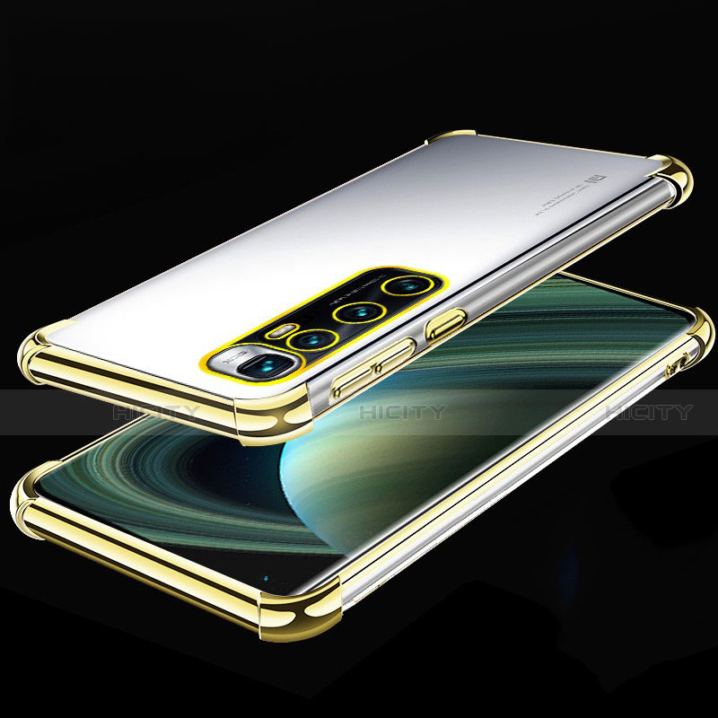 Silikon Schutzhülle Ultra Dünn Flexible Tasche Durchsichtig Transparent H04 für Xiaomi Mi 10 Ultra Gold Plus