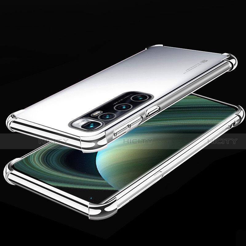 Silikon Schutzhülle Ultra Dünn Flexible Tasche Durchsichtig Transparent H04 für Xiaomi Mi 10 Ultra Silber Plus