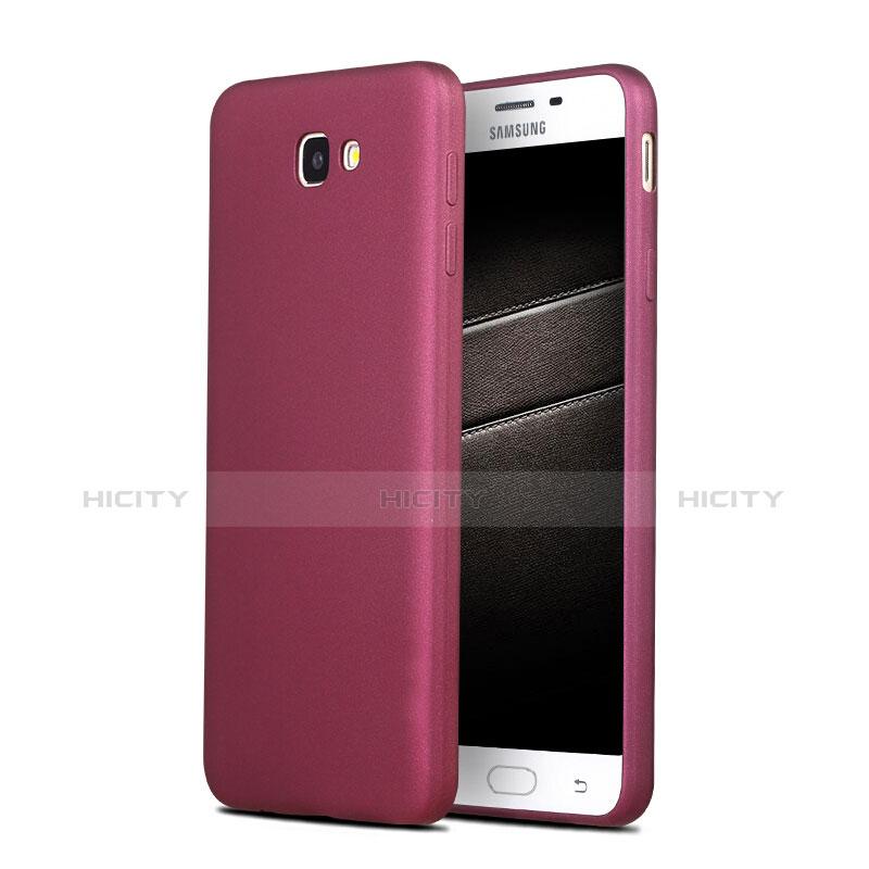 Silikon Schutzhülle Ultra Dünn Hülle S03 für Samsung Galaxy On7 (2016) G6100 Violett Plus