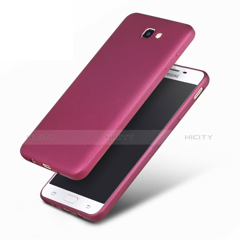 Silikon Schutzhülle Ultra Dünn Hülle S03 für Samsung Galaxy On7 (2016) G6100 Violett groß