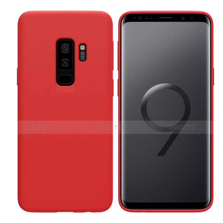 Silikon Schutzhülle Ultra Dünn Hülle S03 für Samsung Galaxy S9 Plus Rot Plus