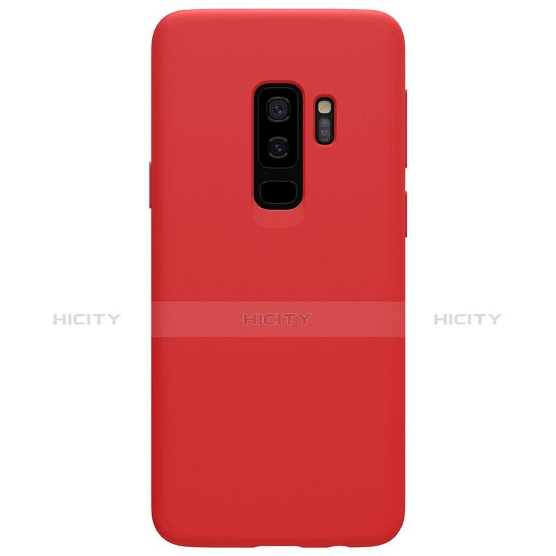 Silikon Schutzhülle Ultra Dünn Hülle S03 für Samsung Galaxy S9 Plus Rot groß