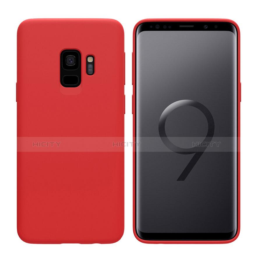 Silikon Schutzhülle Ultra Dünn Hülle S03 für Samsung Galaxy S9 Rot Plus