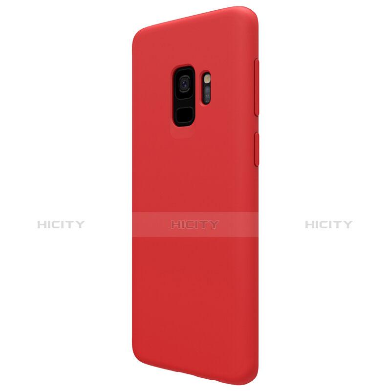 Silikon Schutzhülle Ultra Dünn Hülle S03 für Samsung Galaxy S9 Rot groß