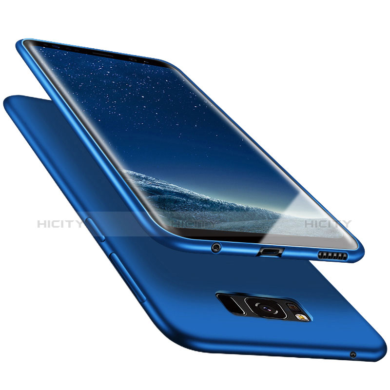Silikon Schutzhülle Ultra Dünn Hülle S06 für Samsung Galaxy S8 Blau groß