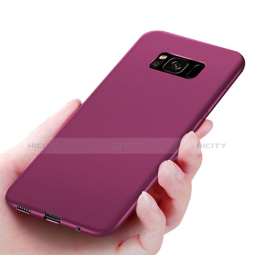 Silikon Schutzhülle Ultra Dünn Hülle S06 für Samsung Galaxy S8 Violett Plus