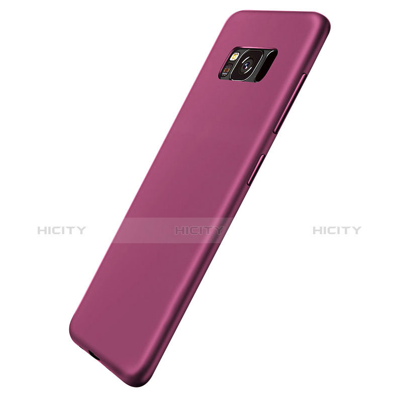 Silikon Schutzhülle Ultra Dünn Hülle S06 für Samsung Galaxy S8 Violett groß