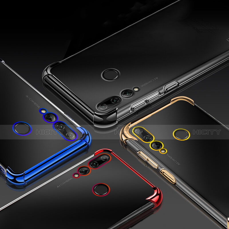 Silikon Schutzhülle Ultra Dünn Tasche Durchsichtig Transparent H01 für Huawei Honor 20 Lite groß