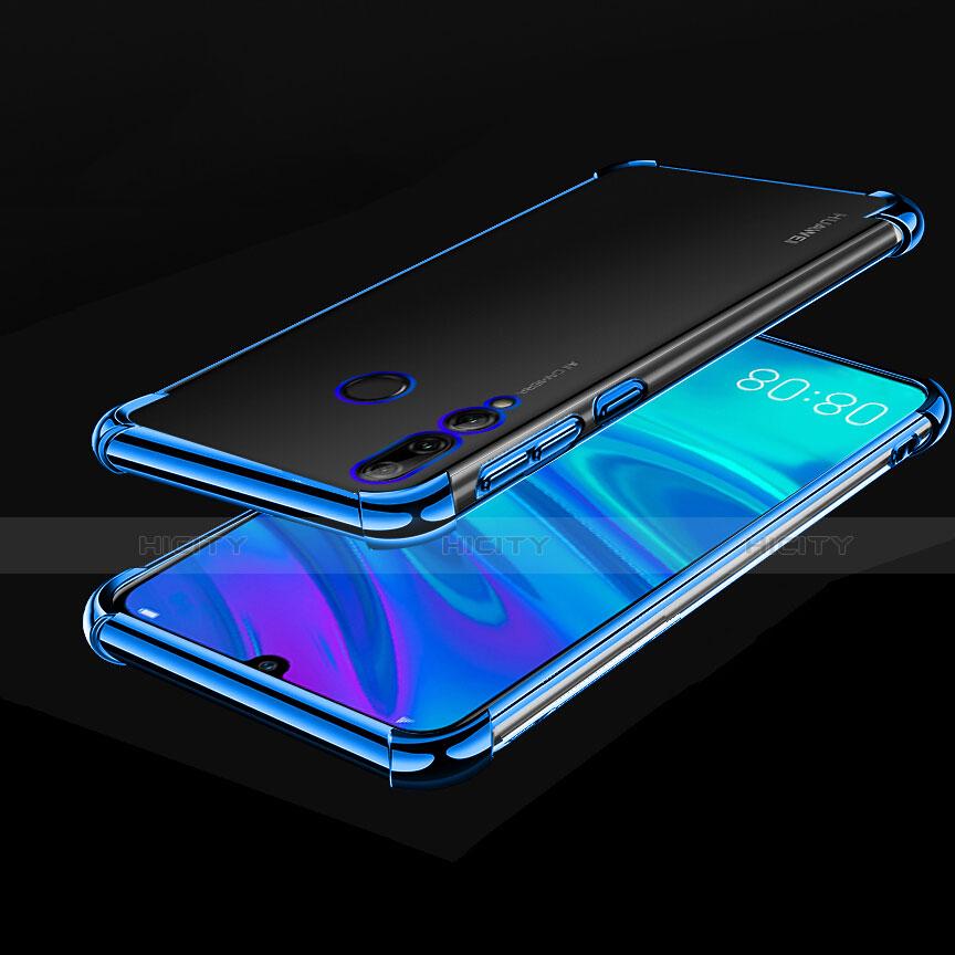 Silikon Schutzhülle Ultra Dünn Tasche Durchsichtig Transparent H01 für Huawei Honor 20 Lite Blau Plus