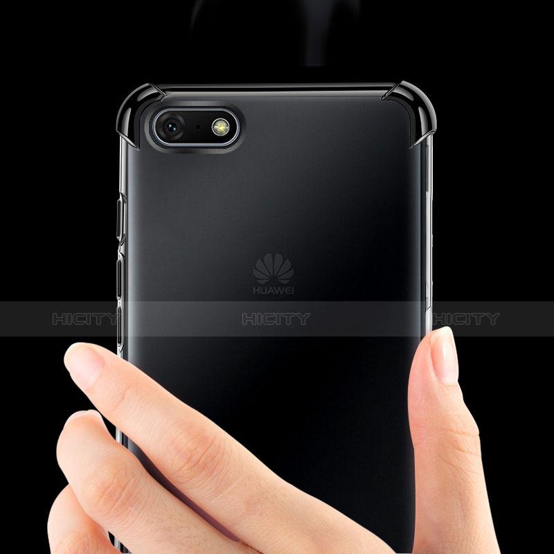 Silikon Schutzhülle Ultra Dünn Tasche Durchsichtig Transparent H01 für Huawei Y5 (2018) groß