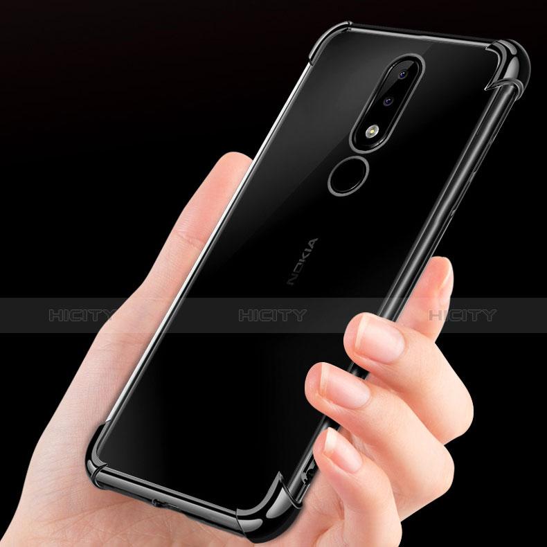 Silikon Schutzhülle Ultra Dünn Tasche Durchsichtig Transparent H01 für Nokia X5 groß
