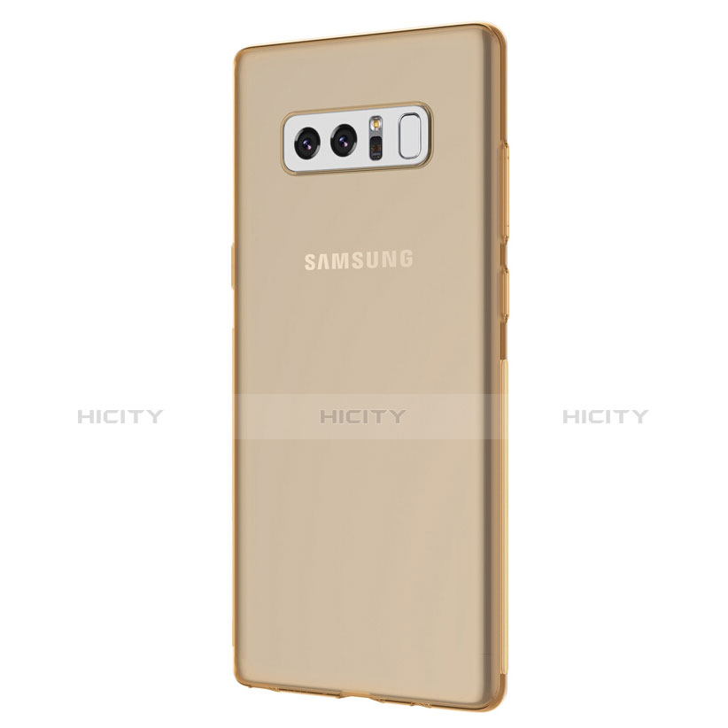 Silikon Schutzhülle Ultra Dünn Tasche Durchsichtig Transparent H01 für Samsung Galaxy Note 8 Duos N950F Gold groß