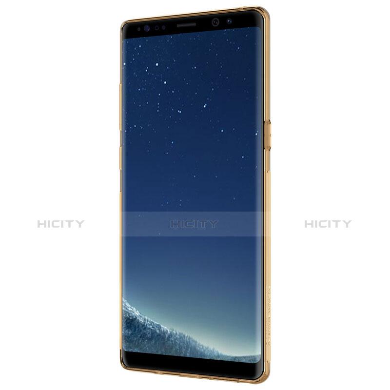 Silikon Schutzhülle Ultra Dünn Tasche Durchsichtig Transparent H01 für Samsung Galaxy Note 8 Gold groß