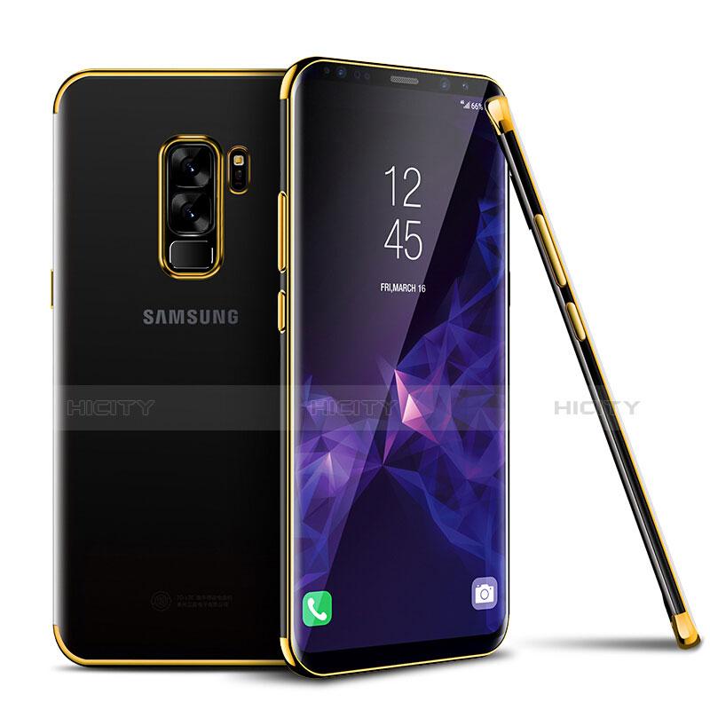 Silikon Schutzhülle Ultra Dünn Tasche Durchsichtig Transparent H01 für Samsung Galaxy S9 Plus Gold Plus