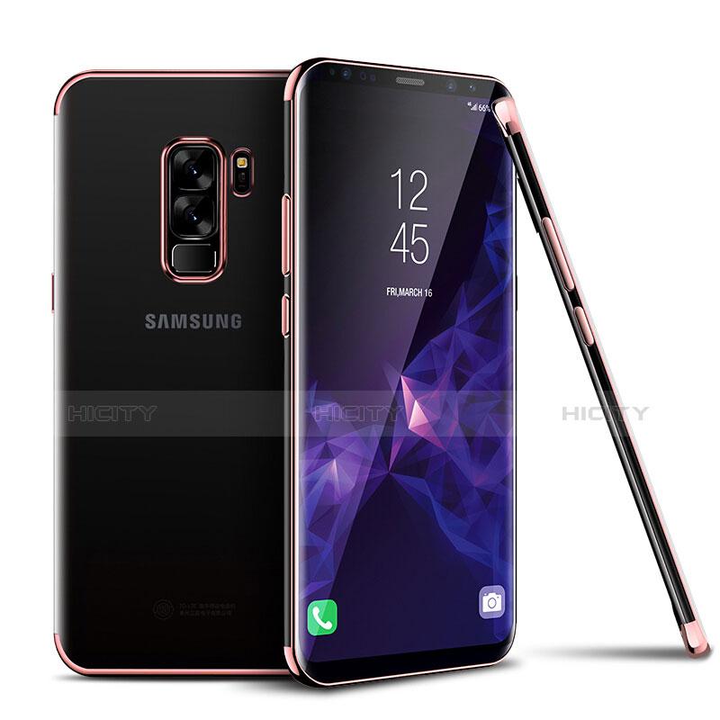 Silikon Schutzhülle Ultra Dünn Tasche Durchsichtig Transparent H01 für Samsung Galaxy S9 Plus Rosegold Plus