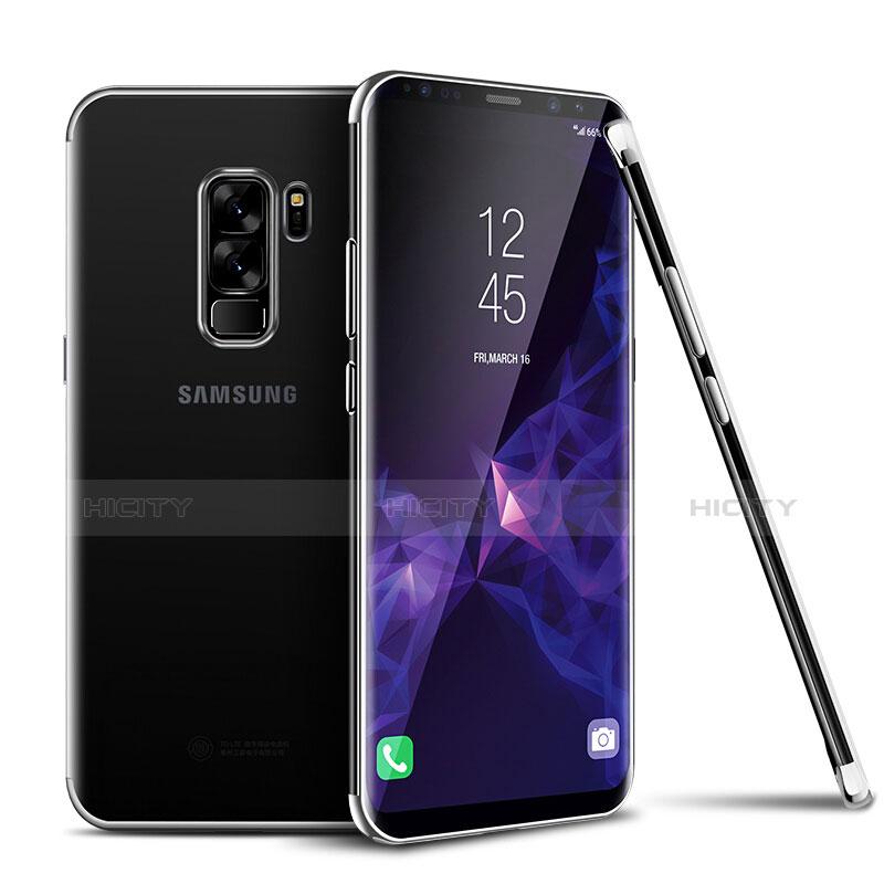 Silikon Schutzhülle Ultra Dünn Tasche Durchsichtig Transparent H01 für Samsung Galaxy S9 Plus Silber Plus