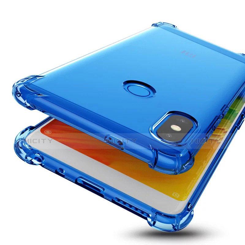 Silikon Schutzhülle Ultra Dünn Tasche Durchsichtig Transparent H01 für Xiaomi Redmi Note 5 AI Dual Camera Blau Plus