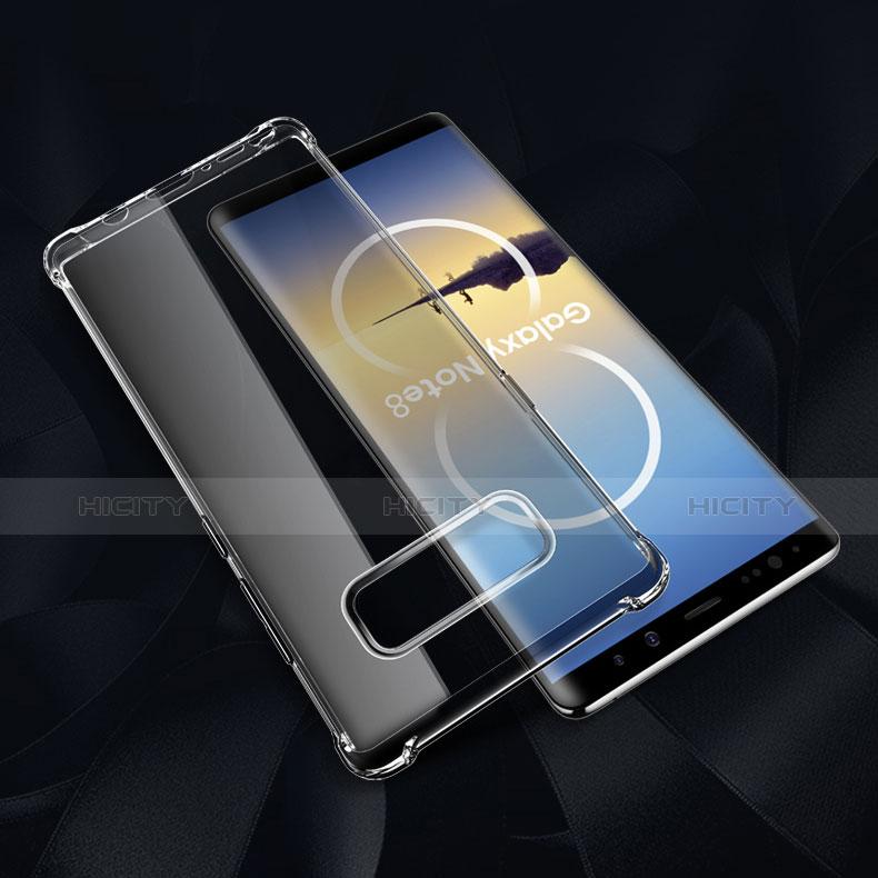 Silikon Schutzhülle Ultra Dünn Tasche Durchsichtig Transparent H02 für Samsung Galaxy Note 8 Duos N950F Klar