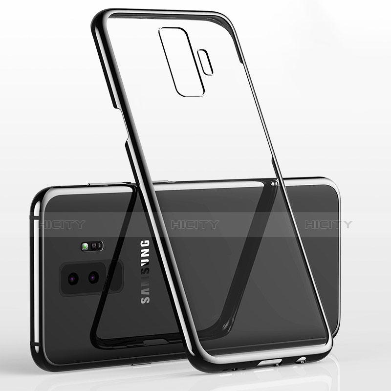 Silikon Schutzhülle Ultra Dünn Tasche Durchsichtig Transparent H02 für Samsung Galaxy S9 Plus Schwarz Plus