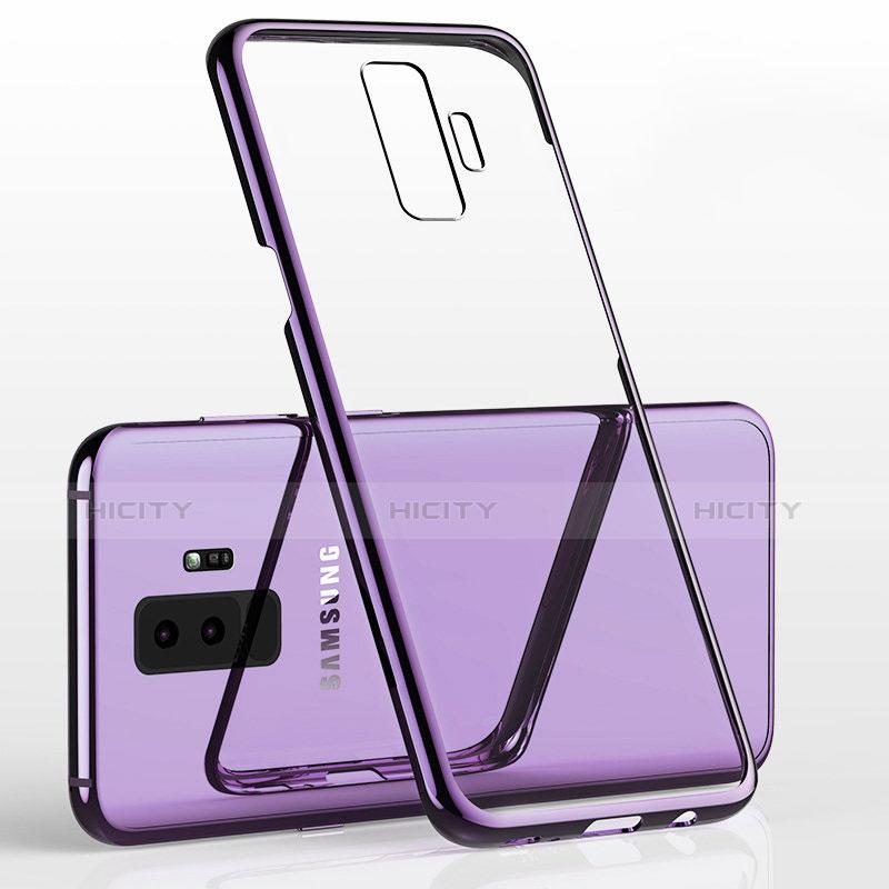 Silikon Schutzhülle Ultra Dünn Tasche Durchsichtig Transparent H02 für Samsung Galaxy S9 Plus Violett Plus