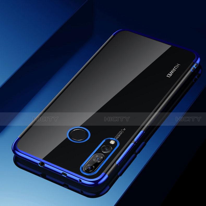 Silikon Schutzhülle Ultra Dünn Tasche Durchsichtig Transparent H03 für Huawei Honor 20 Lite Blau