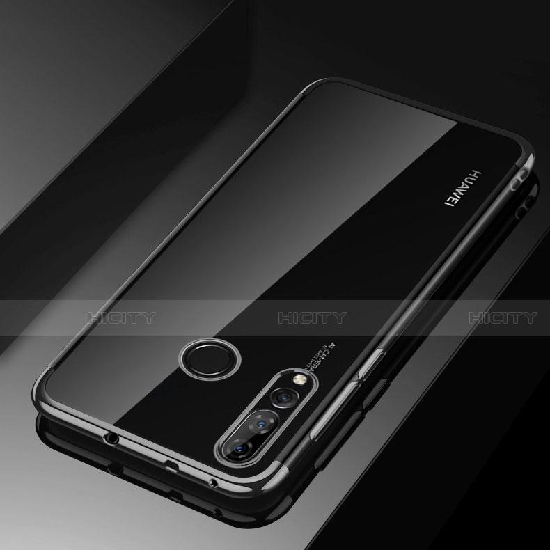 Silikon Schutzhülle Ultra Dünn Tasche Durchsichtig Transparent H03 für Huawei Honor 20 Lite Schwarz Plus