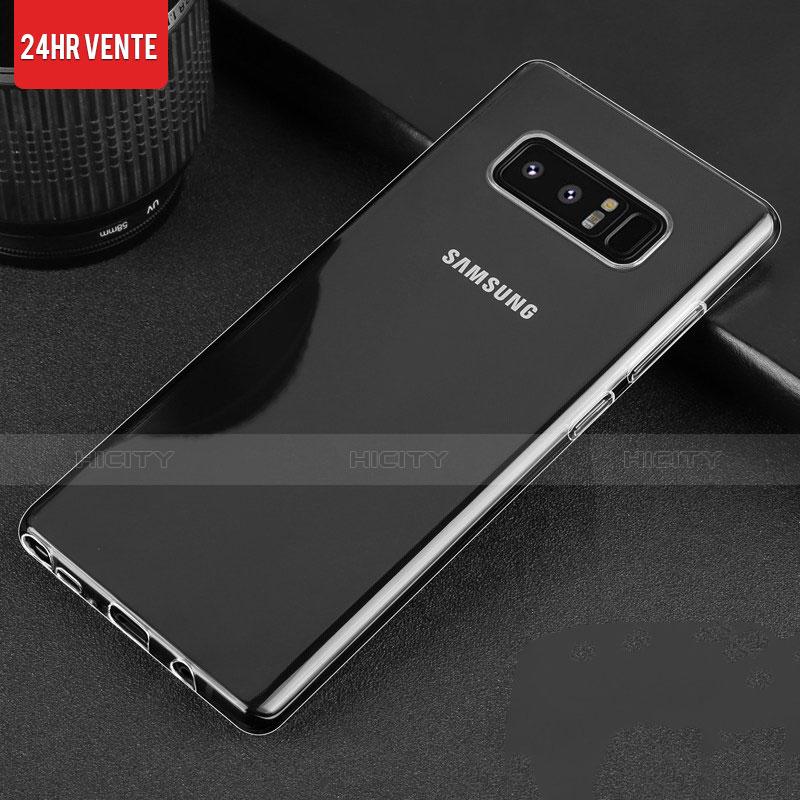 Silikon Schutzhülle Ultra Dünn Tasche Durchsichtig Transparent H03 für Samsung Galaxy Note 8 Duos N950F Klar groß