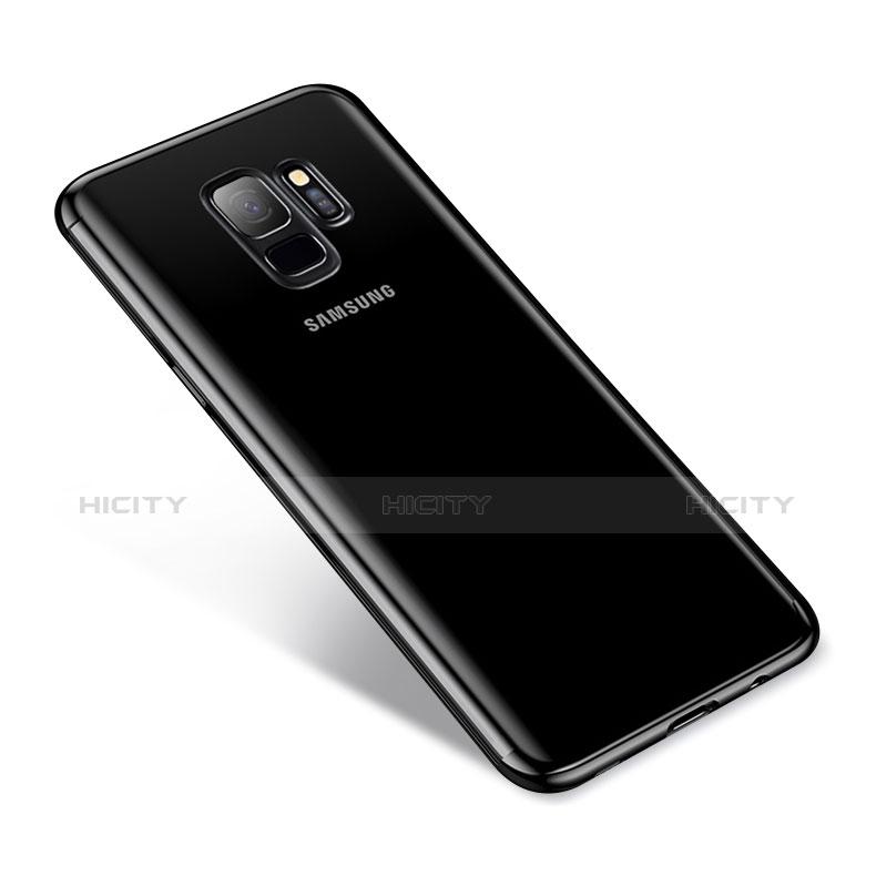 Silikon Schutzhülle Ultra Dünn Tasche Durchsichtig Transparent H03 für Samsung Galaxy S9 Schwarz Plus