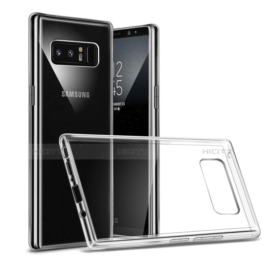 Silikon Schutzhülle Ultra Dünn Tasche Durchsichtig Transparent H04 für Samsung Galaxy Note 8 Klar groß