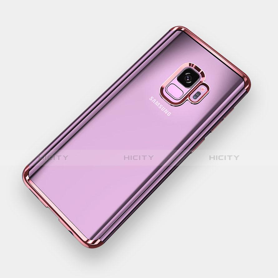 Silikon Schutzhülle Ultra Dünn Tasche Durchsichtig Transparent H04 für Samsung Galaxy S9 Rosegold Plus
