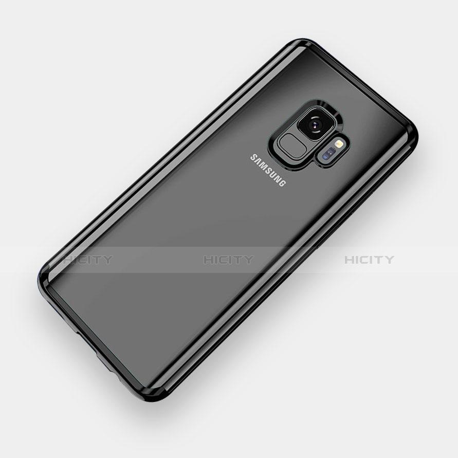Silikon Schutzhülle Ultra Dünn Tasche Durchsichtig Transparent H04 für Samsung Galaxy S9 Schwarz Plus