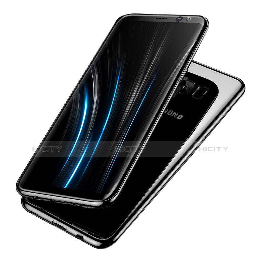 Silikon Schutzhülle Ultra Dünn Tasche Durchsichtig Transparent H05 für Samsung Galaxy S8 groß