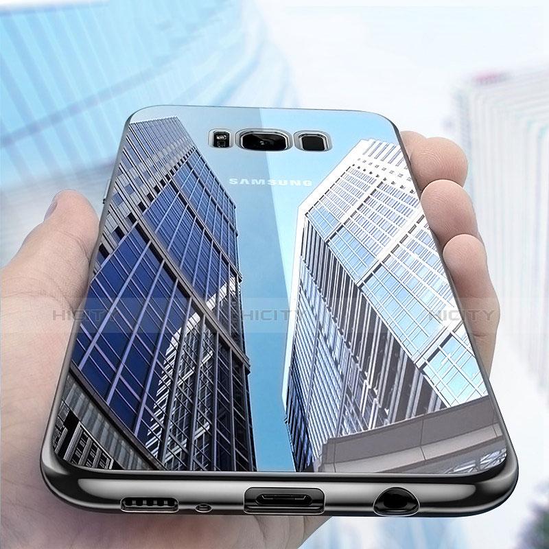 Silikon Schutzhülle Ultra Dünn Tasche Durchsichtig Transparent H06 für Samsung Galaxy S8 Plus Schwarz Plus