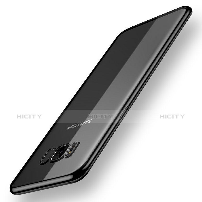 Silikon Schutzhülle Ultra Dünn Tasche Durchsichtig Transparent H06 für Samsung Galaxy S8 Schwarz groß