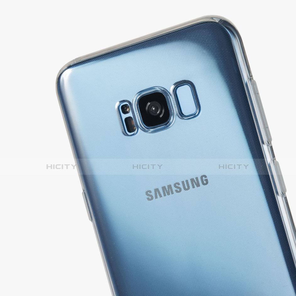 Silikon Schutzhülle Ultra Dünn Tasche Durchsichtig Transparent H07 für Samsung Galaxy S8 Klar groß