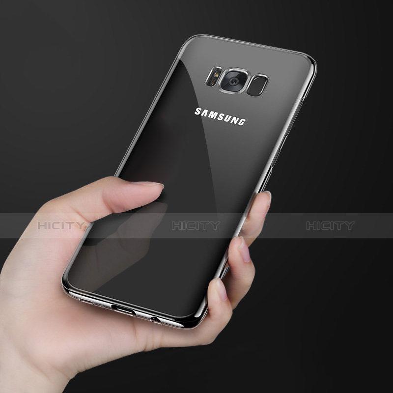 Silikon Schutzhülle Ultra Dünn Tasche Durchsichtig Transparent H09 für Samsung Galaxy S8 Schwarz Plus