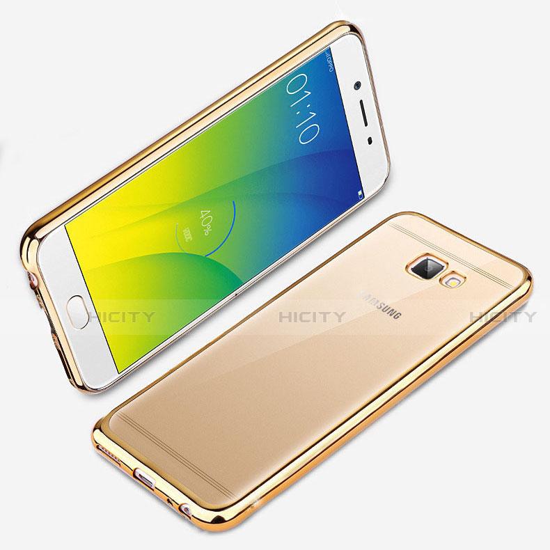 Silikon Schutzhülle Ultra Dünn Tasche Durchsichtig Transparent R01 für Samsung Galaxy J7 Prime Gold Plus