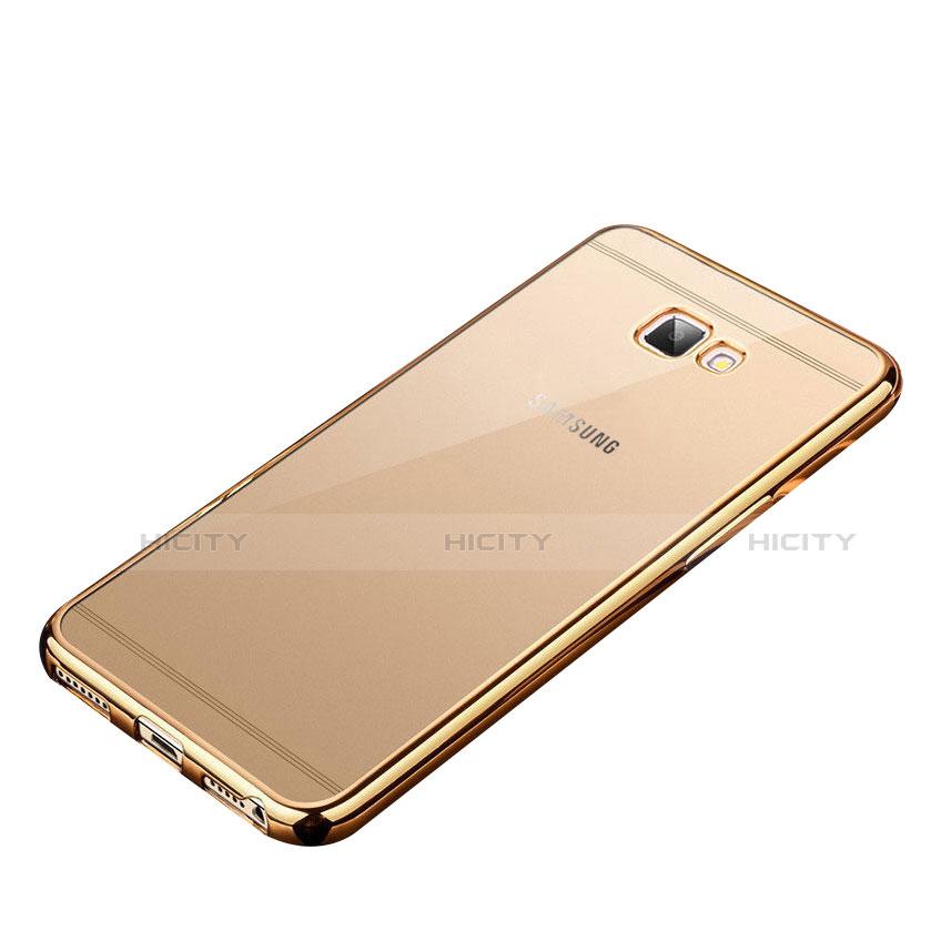 Silikon Schutzhülle Ultra Dünn Tasche Durchsichtig Transparent R01 für Samsung Galaxy J7 Prime Gold groß