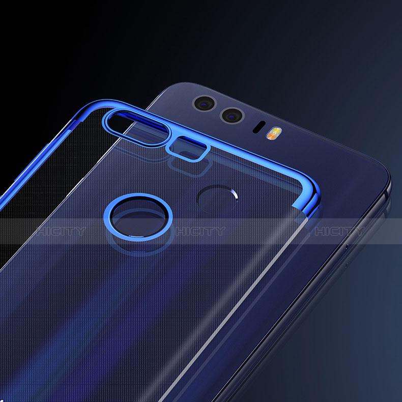 Silikon Schutzhülle Ultra Dünn Tasche Durchsichtig Transparent S01 für Huawei Honor 8 groß