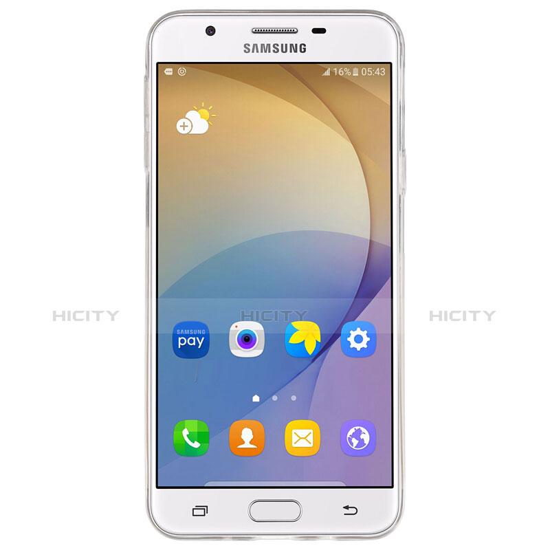 Silikon Schutzhülle Ultra Dünn Tasche Durchsichtig Transparent T02 für Samsung Galaxy On7 (2016) G6100 Klar groß