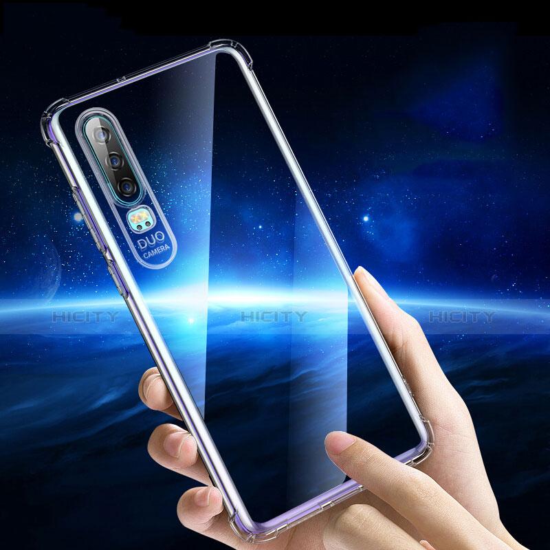 Silikon Schutzhülle Ultra Dünn Tasche Durchsichtig Transparent T05 für Huawei P30 Klar Plus