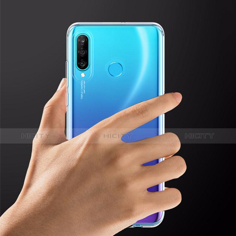 Silikon Schutzhülle Ultra Dünn Tasche Durchsichtig Transparent T05 für Huawei P30 Lite Klar groß