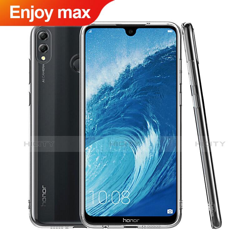 Silikon Schutzhülle Ultra Dünn Tasche Durchsichtig Transparent T06 für Huawei Enjoy Max Klar Plus