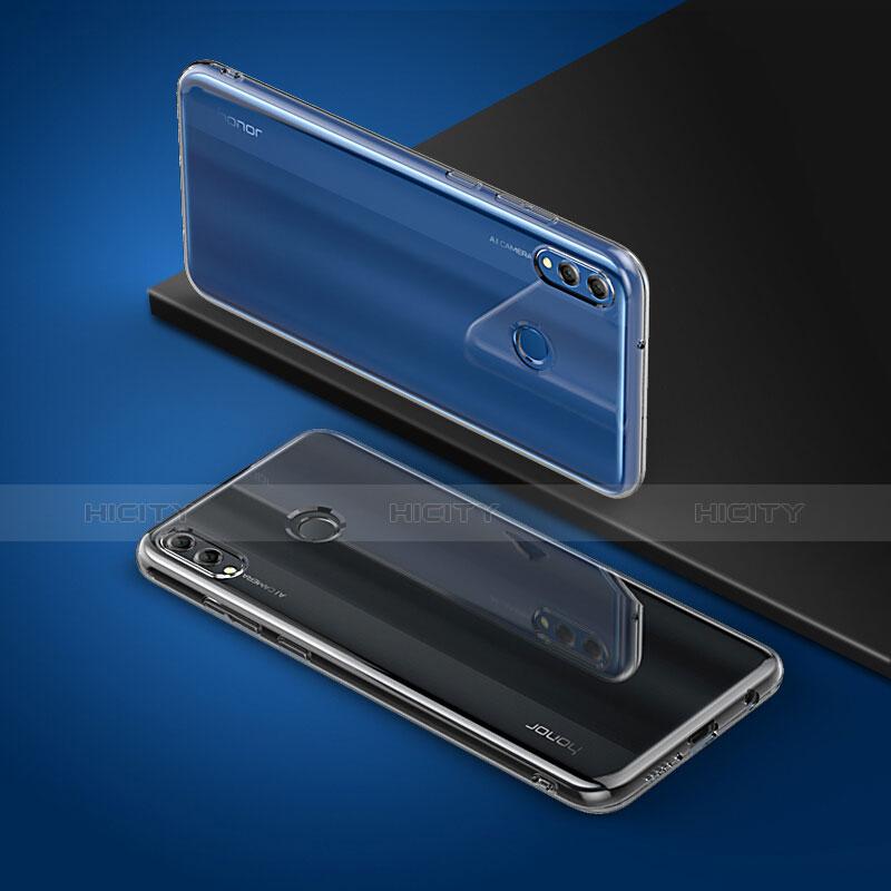 Silikon Schutzhülle Ultra Dünn Tasche Durchsichtig Transparent T06 für Huawei Enjoy Max Klar groß