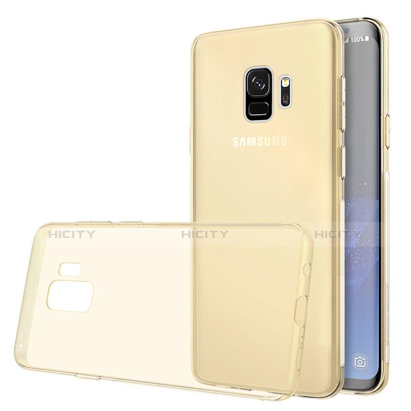 Silikon Schutzhülle Ultra Dünn Tasche Durchsichtig Transparent T07 für Samsung Galaxy S9 Gold groß