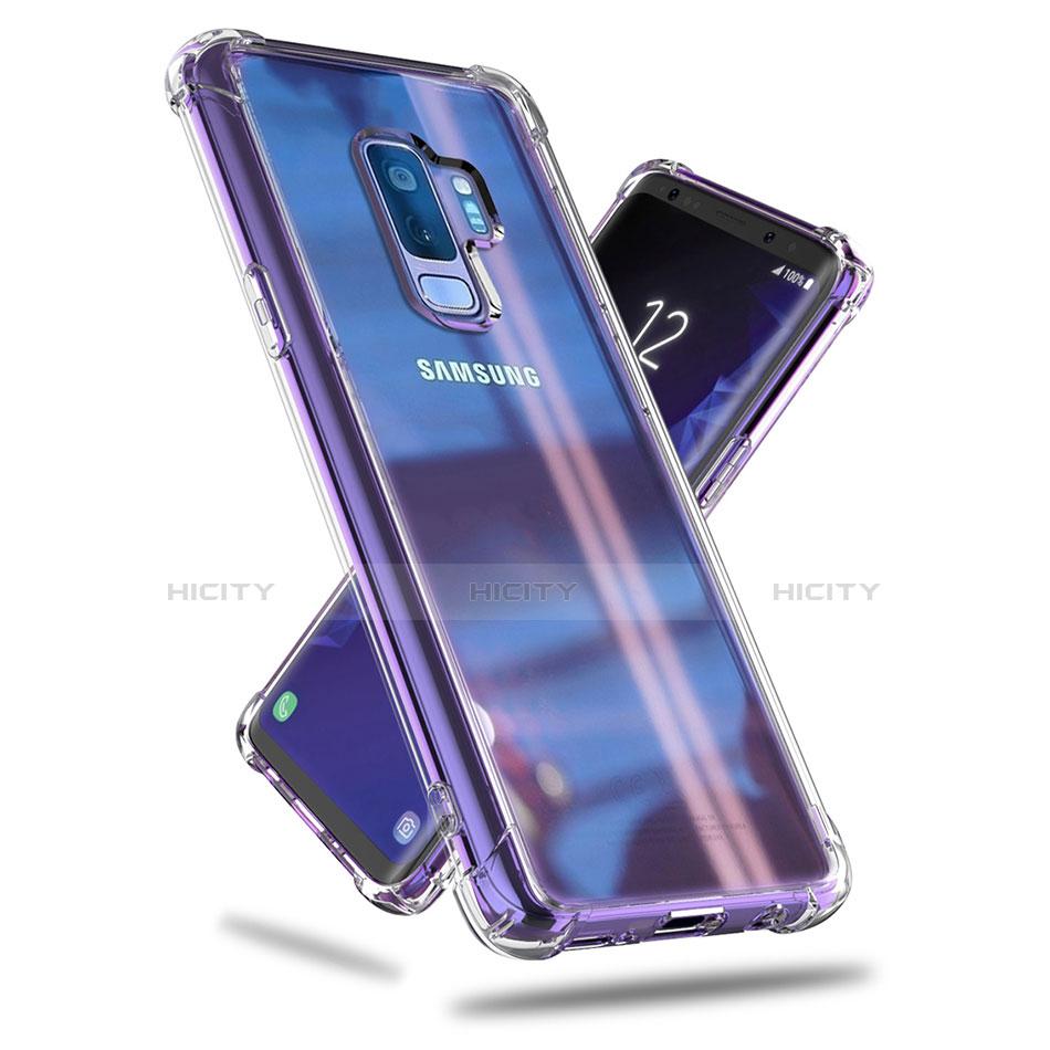 Silikon Schutzhülle Ultra Dünn Tasche Durchsichtig Transparent T07 für Samsung Galaxy S9 Plus Klar groß