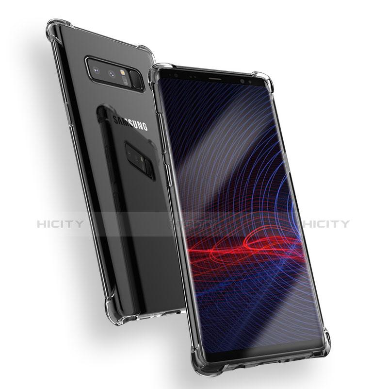 Silikon Schutzhülle Ultra Dünn Tasche Durchsichtig Transparent T08 für Samsung Galaxy Note 8 Klar Plus