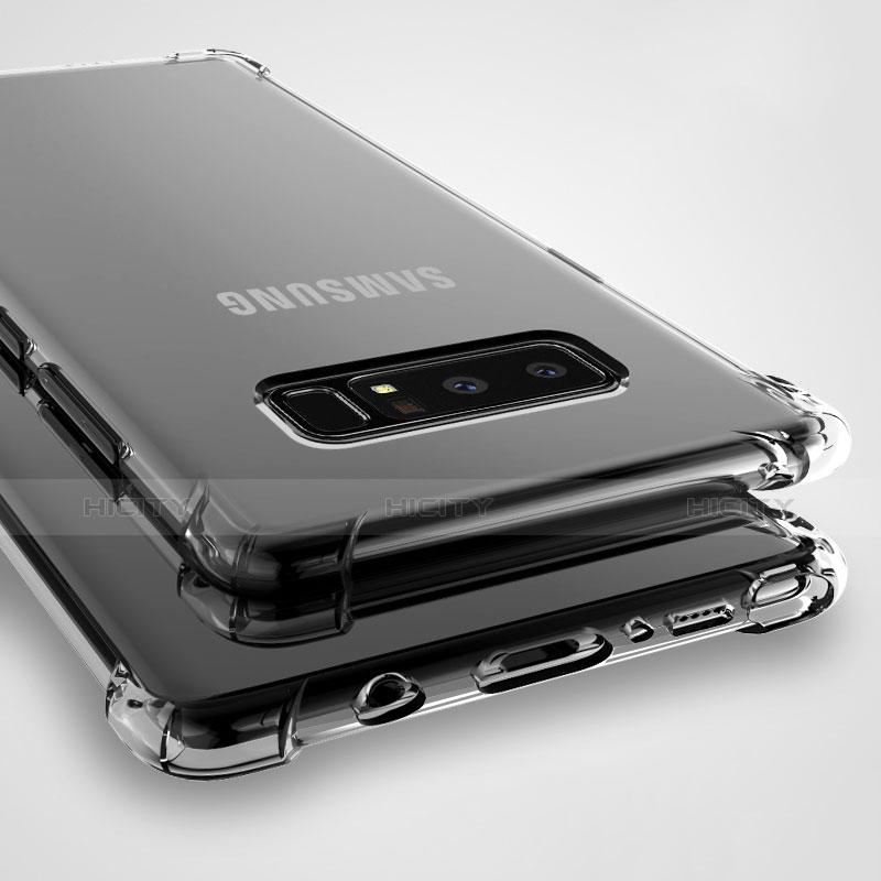 Silikon Schutzhülle Ultra Dünn Tasche Durchsichtig Transparent T08 für Samsung Galaxy Note 8 Klar groß