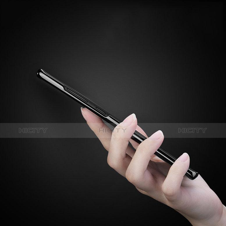 Silikon Schutzhülle Ultra Dünn Tasche Durchsichtig Transparent T08 für Samsung Galaxy Note 9 Schwarz groß